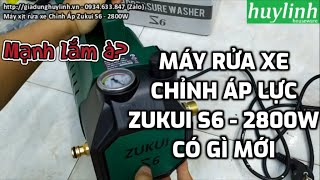 Dùng và Lắp đặt Máy xịt rửa xe Chỉnh Áp Zukui S6 - 2400W tại gia dụng huy linh
