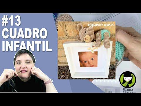 CUADRO INFANTIL AMIGURUMI 13 paso a paso