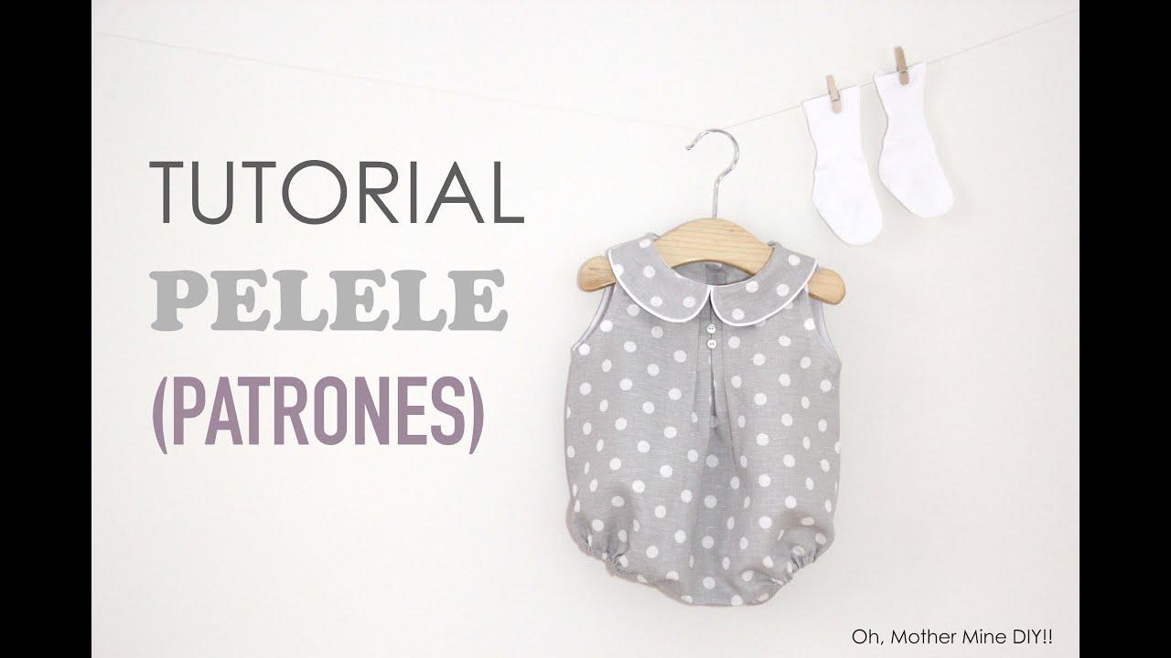 Tutorial y patrones  Pelele de lunares para bebe DIY - YouTube 7710615d2112