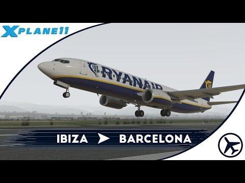 El avión bailarín | IBZ - BCN | B737-800 [Default] | XPlane 11