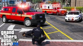 GTA 5 LSPDFR EMS #22   Play As A Paramedic  FDNY EMS Supervisor & Ambulance Responding To A Accident
