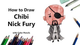 How to Draw Chibi Nick Fury Step by Step - very easy