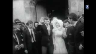 Mariage Johnny Hallyday et Sylvie Vartan à Loconville (Oise)12 Avril 1965