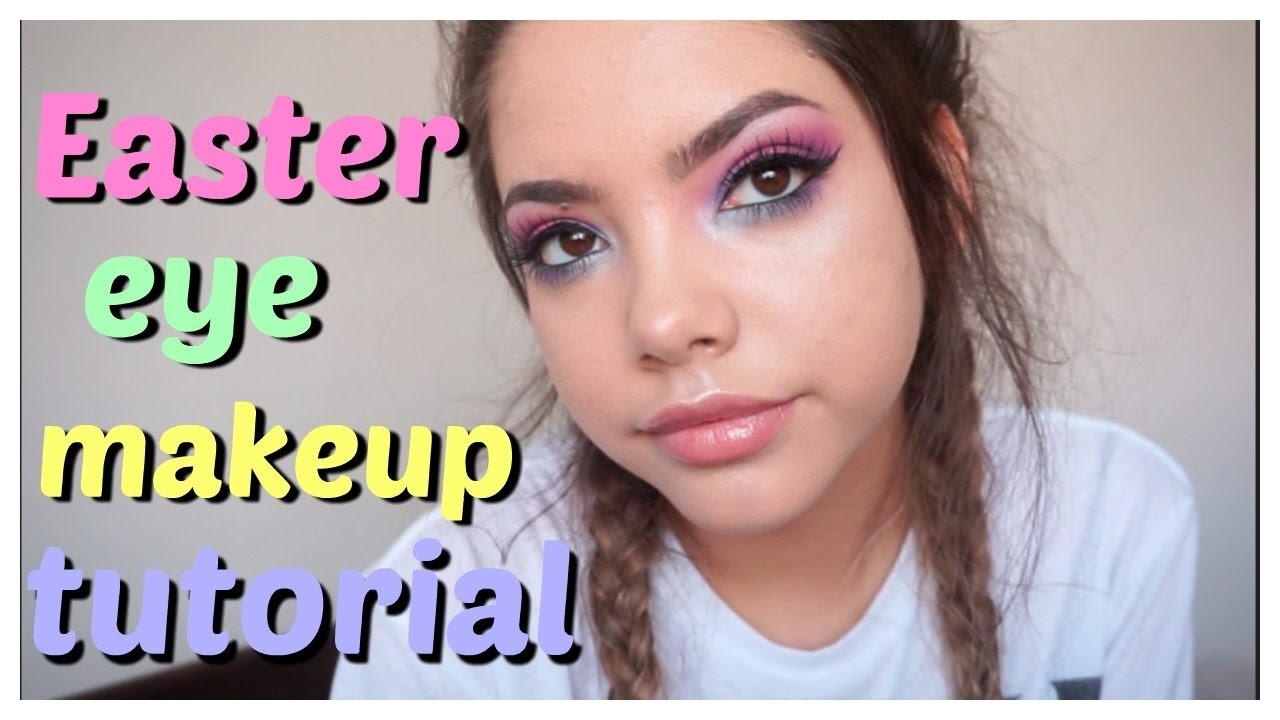Cute easter spring time makeup tutorial for all eyes youtube.