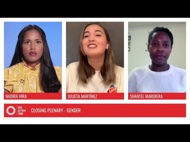 Closing Plenary – Gender