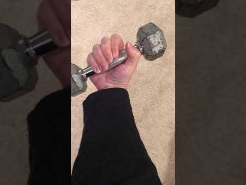 Exercises for Golfers Elbow:  Wrist Curls