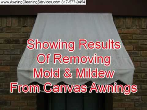 Removing Mold Amp Mildew From Canvas Awnings Dallas Fort