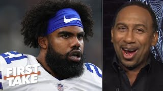 Jerry Jones is trying to agitate Ezekiel Elliott with 'Zeke who?' comment - Stephen A. | First Take