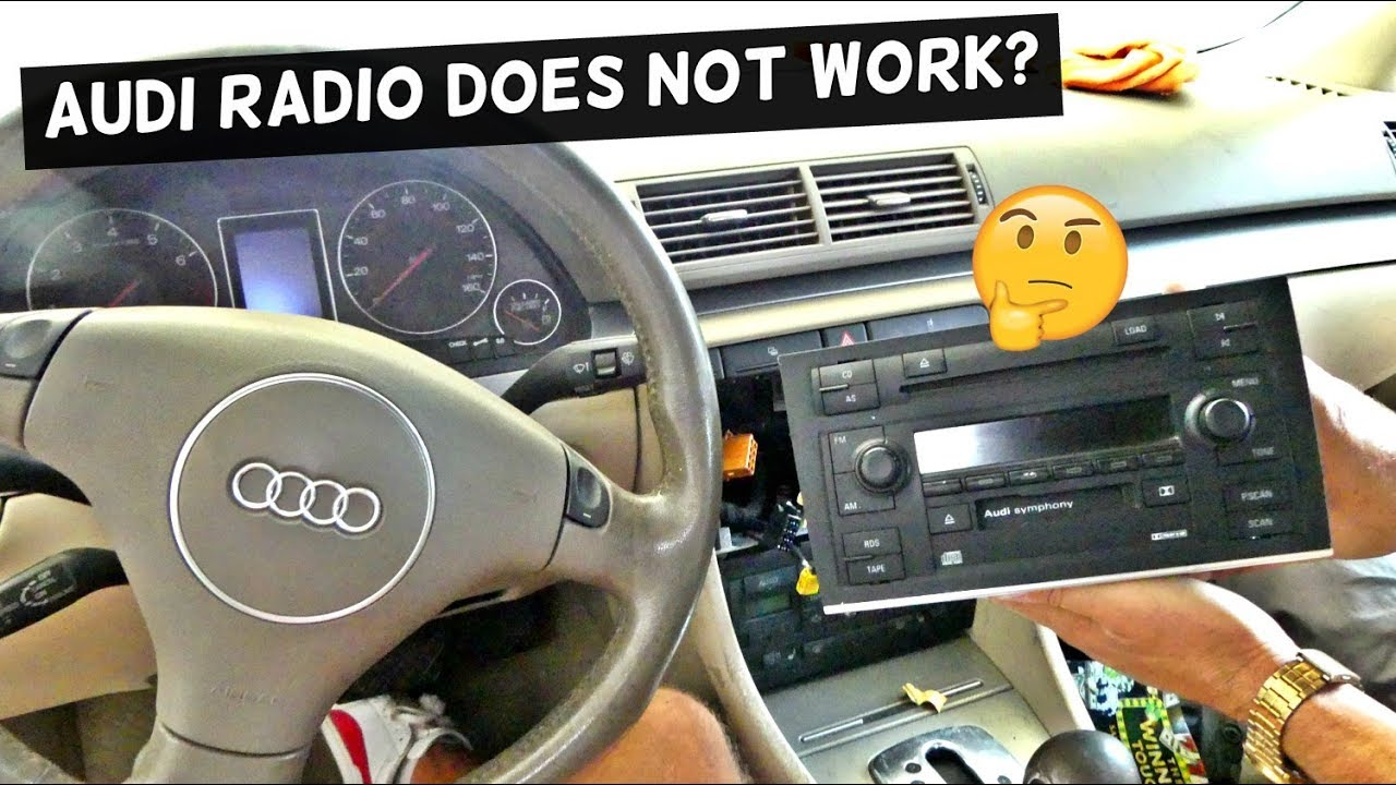 hight resolution of audi radio does not work does not turn on