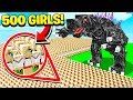 500 GIRLS vs WORLD'S HARDEST MINECRAFT BOSSES!