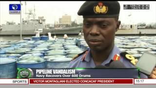 News Across Nigeria: Navy Recorvers Over 600 Drums