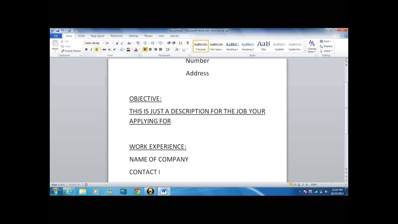 how to write a basic resume - YouTube