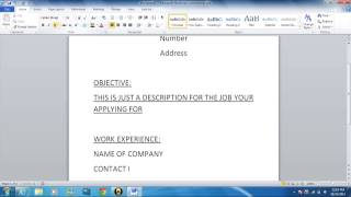 how to write a basic resume