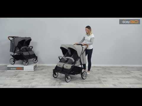 Прогулочная коляска для двойни EasyGo Domino