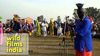 Punjabis perform bhangra at Kila Raipur Rural Sports Festival