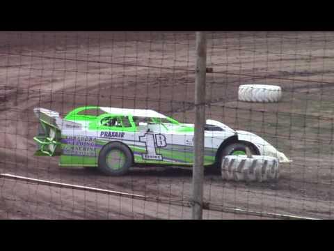 Hummingbird Speedway (7-15-17): BWP Bats Late Model Heat Race #3