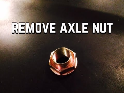 How to Remove Axle Nut on Honda - Rusted Stuck Axle Nut will not come off -  Bundys Garage