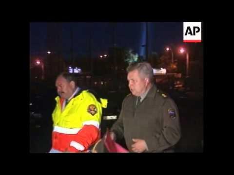 RUSSIA: FIRE ENGULFS OSTANKINO BROADCASTING TOWER 1