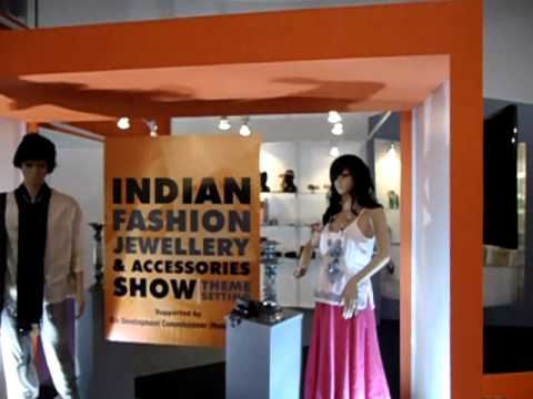 Fashion Products Theme Disply at Indian Jewelry & Fashion Accessories Show, New Delhi, India