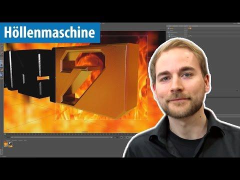 Höllenmaschine 7: Logo-Animation mit Cinema 4D - Tutorial   deutsch / german