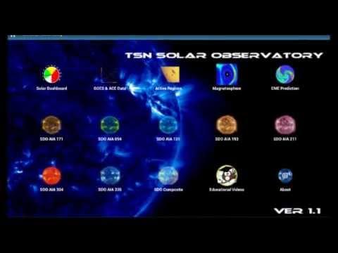 TSN Solar Observatory Android App Version 1.2 - Screenshots