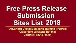 Free press Release submission sites list 2018   Top Press Release submissions sites