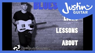 The JustinGuitar Blues Licks App for iOS - 56 Cool Blues Lick lessons on your iPad or iPhone.
