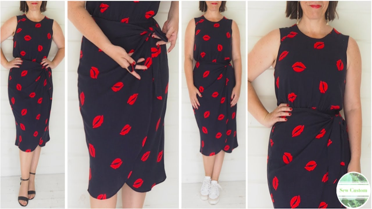 How I Sewed my Summer Dress with Sarong Style Wrap Skirt