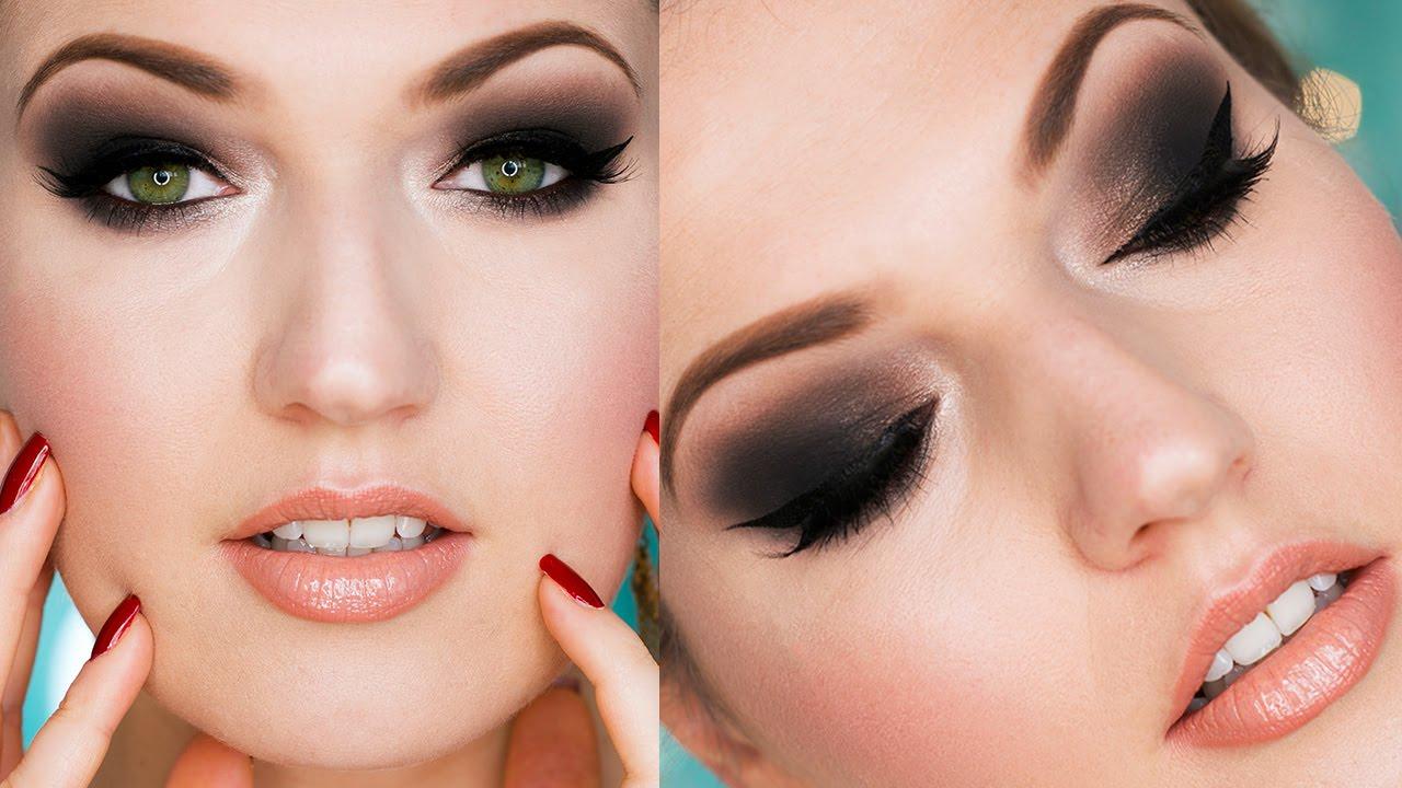 the classic smokey eye evening makeup
