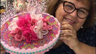Caixinhas Com Flores de Organza Cristal – Lindas Para  decoração