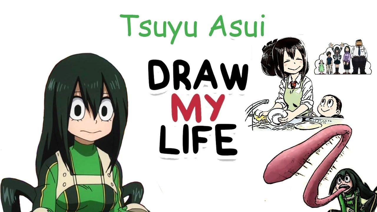 Boku No Hero Academia Tsu tsuyu asui - boku no hero academia | biography & facts you didn't know |  draw my life