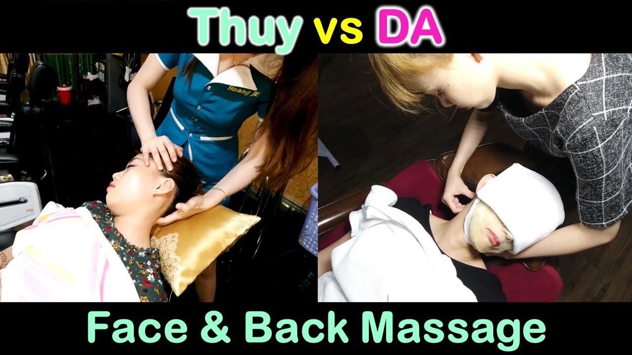 방콕 황제 이발소 - DA vs THUY 서비스 비교 (얼굴, 등 마사지)2