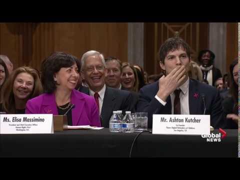 Ashton Kutcher blows John McCain a kiss after crack about his looks