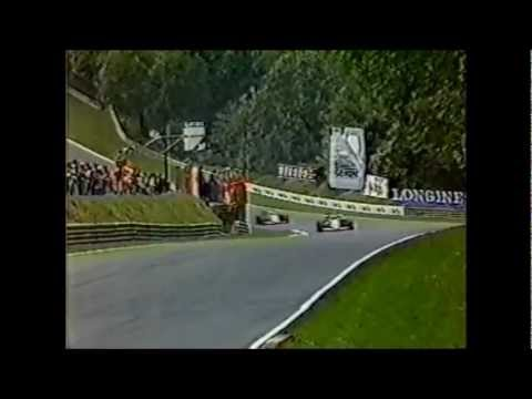 LARGADA do GP da Europa de 1985: Senna e Piquet na 1ª FILA