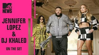 Bts Of Jennifer Lopez Dj Khaled Cardi B 39 S New Song 39 Dinero 39 On The Set Mtv News