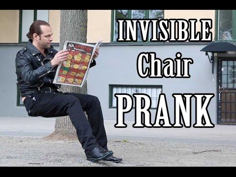 Invisible Chair PRANK    -Julien Magic