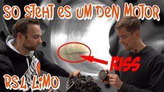 Riss im Zylinder - Begutachtung des 2018er RS4 Limo Motors bei BP Motorentechnik | Philipp Kaess |