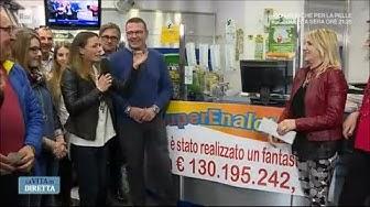 Superenalotto da 130 milioni a Caltanissetta: chi è il fortunato? - La vita in diretta 18/04/2018