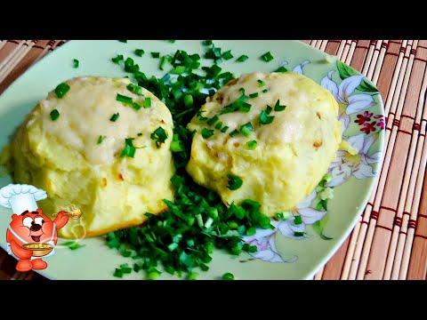 Котлеты картофельные с начинкой из фарша в духовке