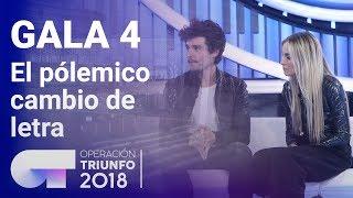 Miki, María,  Ana Torroja y el cambio de letra de Quédate en Madrid    Gala 4   OT 2018