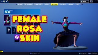 NEW 'ROSA' GLOW IN THE DARK SKIN IN-GAME FORTNITE