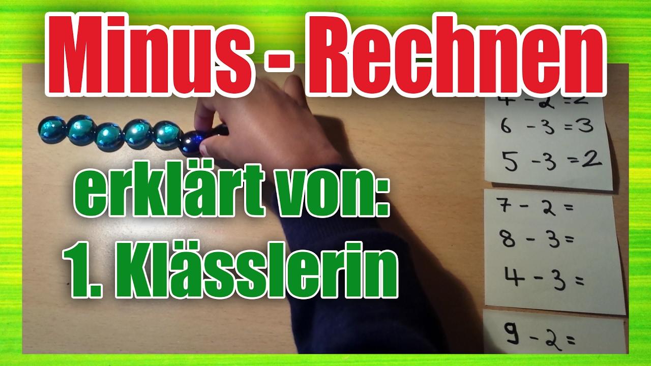 1. Klasse Mathe - Minus rechnen/ subtrahieren / Subtraktion bis 10 ...