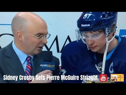 Sidney Crosby sets Pierre McGuire Straight