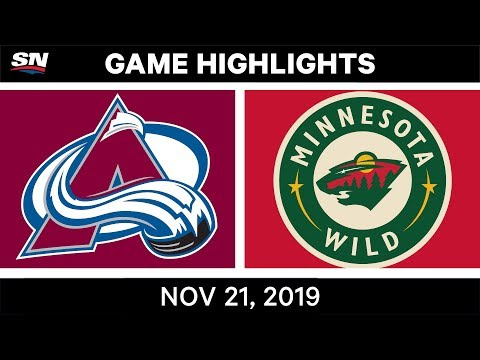 NHL Highlights | Avalanche vs. Wild – Nov. 21, 2019
