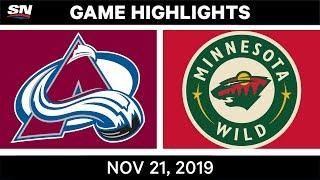 NHL Highlights   Avalanche vs. Wild – Nov. 21, 2019