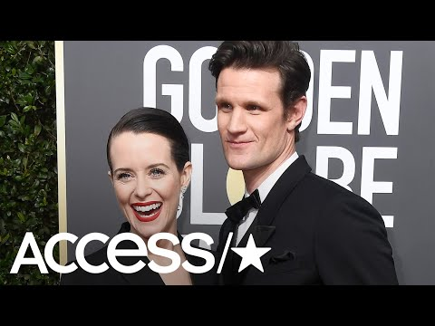 'The Crown's' Claire Foy & Matt Smith Wear Matching Black Outfits At Golden Globes   Access