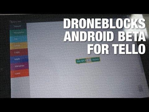 DroneBlocks Android Beta for DJI/Ryze Tello - Intro to Drone Programming