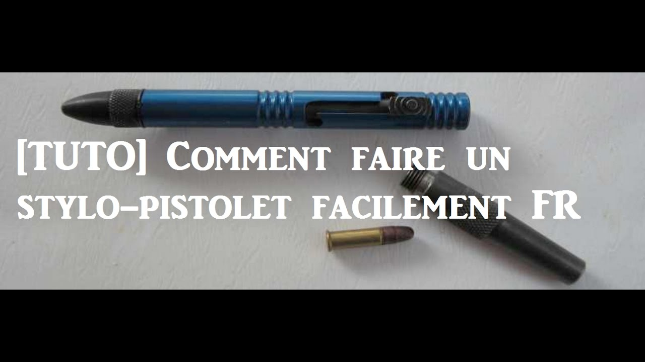 comment faire un stylo pistolet avec une g chette tuto youtube. Black Bedroom Furniture Sets. Home Design Ideas
