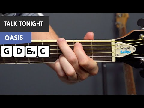 Oasis - Talk Tonight Guitar Lesson Tutorial