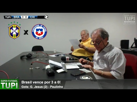 Brasil 3 x 0 Chile - 18ª Rodada - Eliminatórias da Copa - America do Sul - 10/10/2017  - AO VIVO